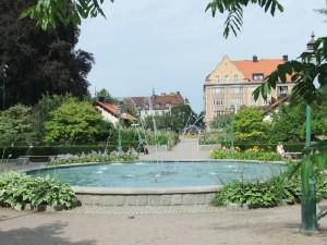 Et af Linköbings mange springvand