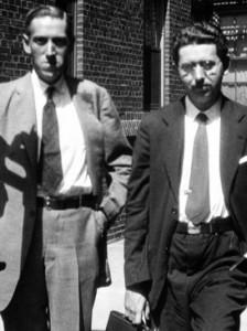 Lovecraft med forfatter-kollega Frank Belknap Long