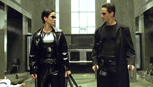 Trinity og Neo fra The Matrix
